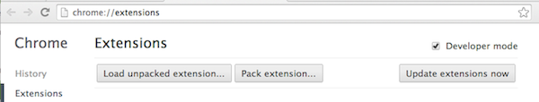 Loading Chrome extensions
